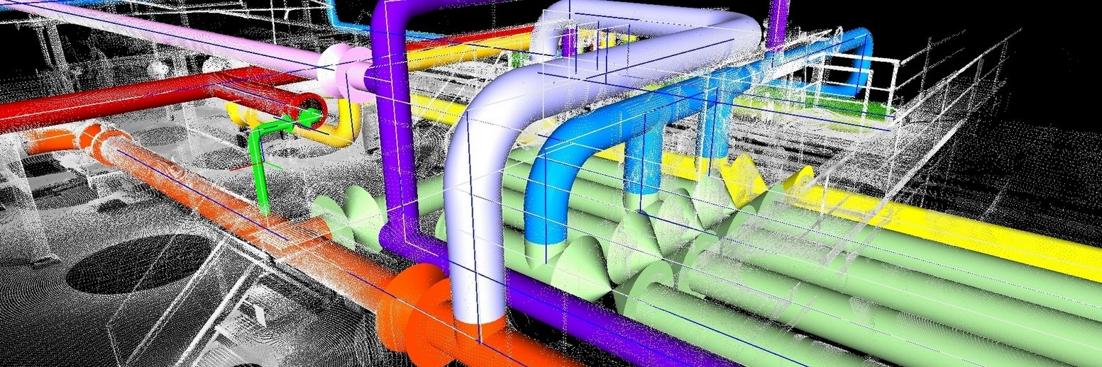Kohera3d Piping Software 3d Pipe Design Inside The Point Cloud Layout Autocad